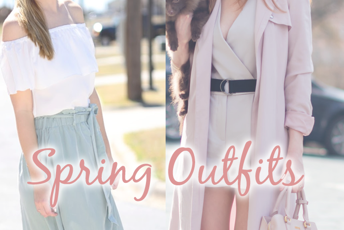 Spring Outfits From Fashionistas graphic