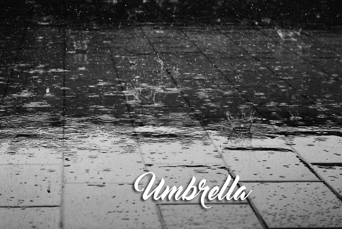 U is for… Umbrella graphic